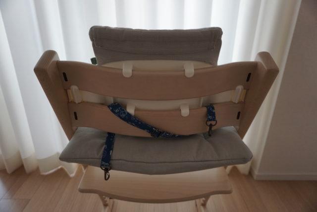 トリップトラップのリッチェル チェアベルトの付け方、低月齢用