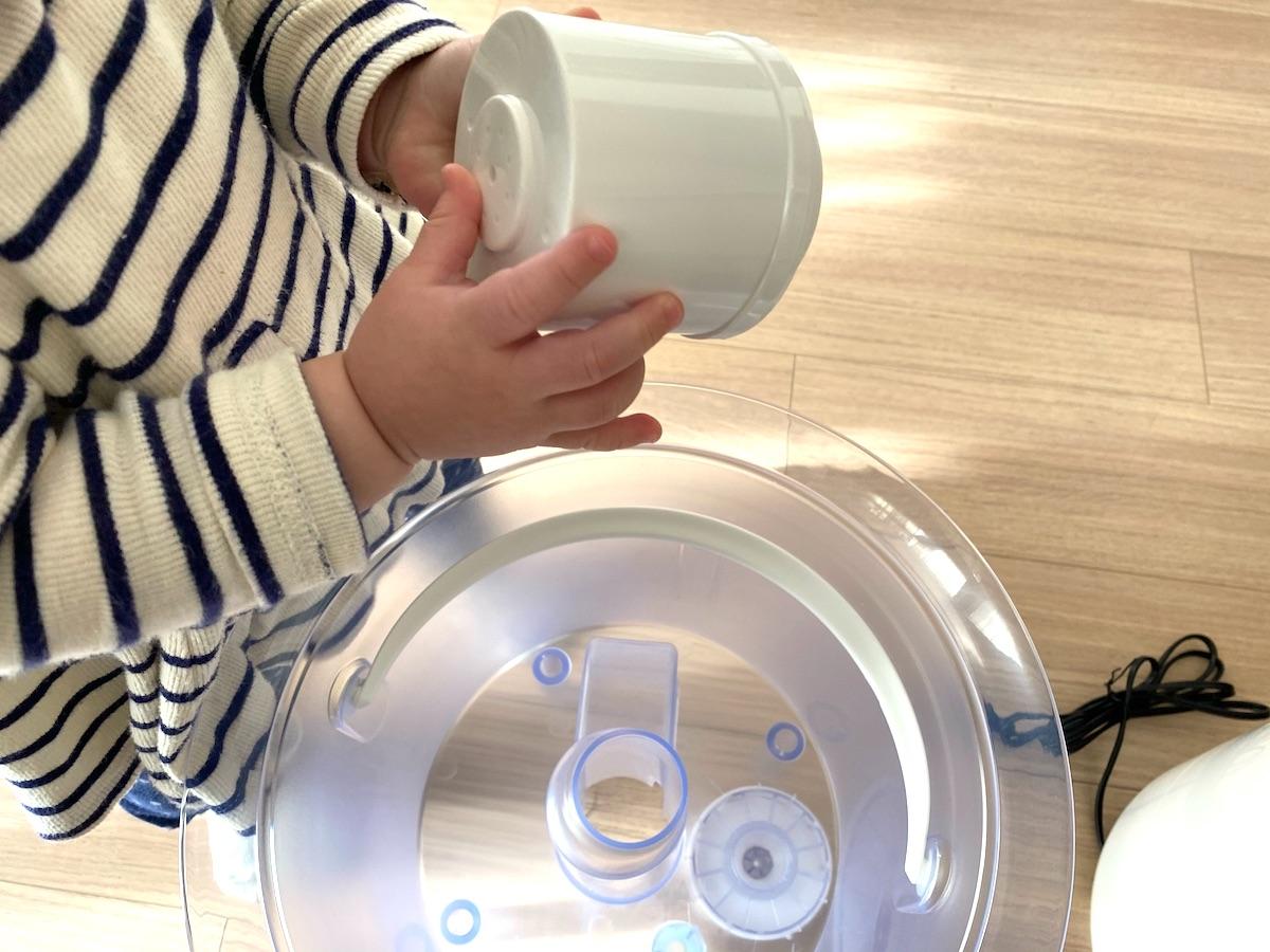 簡単な作りで使いやすいブルーノの加湿器