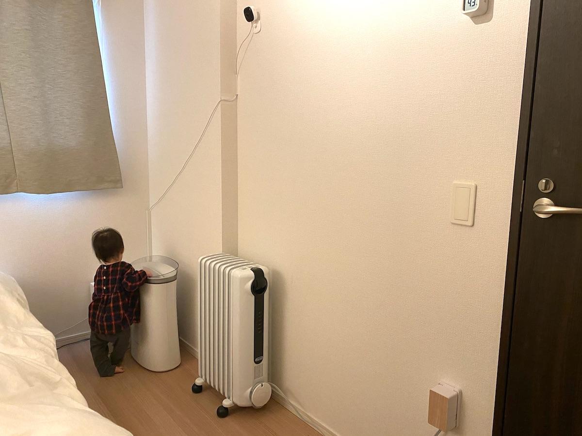 デロンギオイルヒーターは夜間暖房に最適