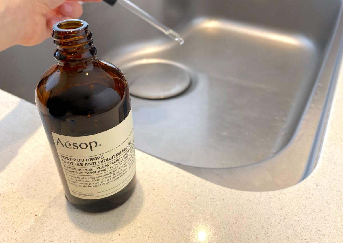 イソップ ポストプードロップスはシンクの匂いにも効果あり