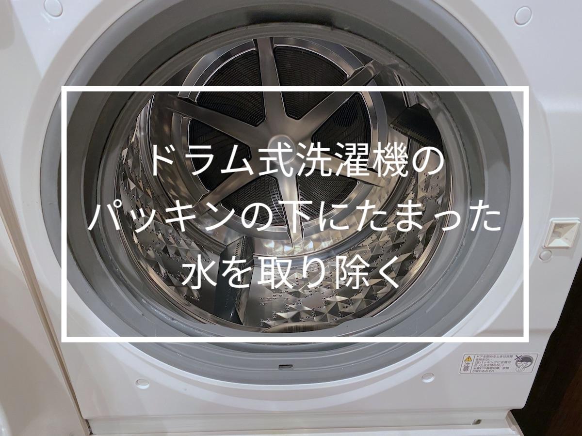 ドラム式洗濯機のフチ(パッキン)のところにたまる水を取り除いてみた