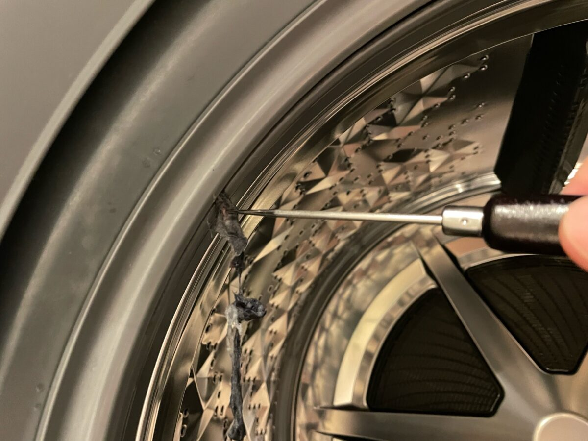ドラム式洗濯機の埃取りにおすすめは千枚通しです