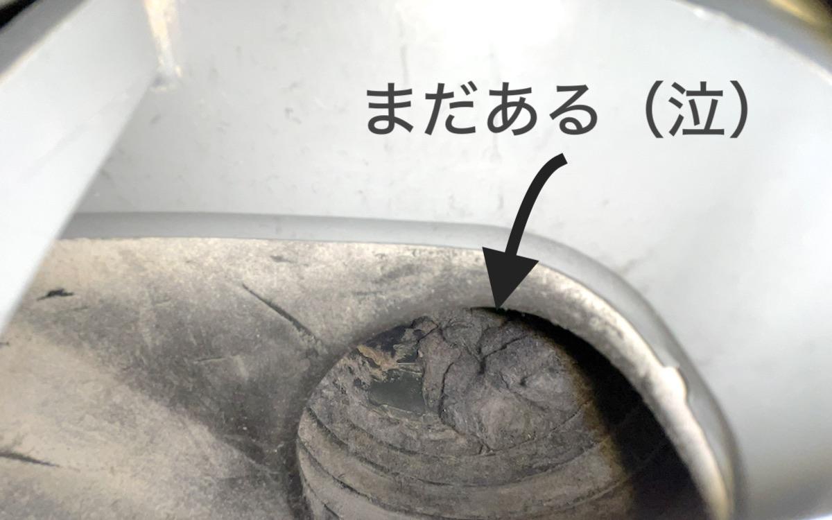 ドラム式洗濯機のホコリはなかなか取れない