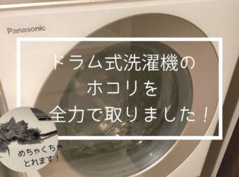 乾燥が終わらないドラム式洗濯機。ホコリをとって解決する方法